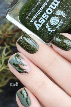 Great fall nail design idea
