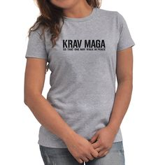Krav Maga Walk in peace Women T-Shirt