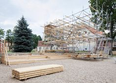 Mailītis AIIM builds scaffolding and timber pavilion at Latvian brewery