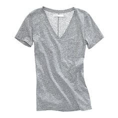 Live-in-it soft and deceptively polished, this loose-fitting tee will be the foundation of many year-round outfits.  Cotton jersey.