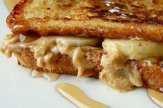GF french toast... peanut butter...banana... head explosion