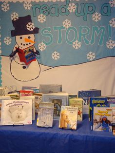 winter library displays | The Children's Room: READ UP A STORM!