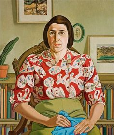 "Rita Angus, ""Portrait of Betty Curnow"". Auckland Art Gallery Toi o Tamaki, NZ Female Portrait, Female Art, Tamara Lempicka, Auckland Art Gallery, Francoise Gilot, Japanese Woodcut, New Zealand Art, Nz Art, Digital Museum"