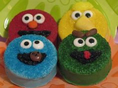 Sesame Street Gang Chocolate Covered Oreo by serenaspartyboutique