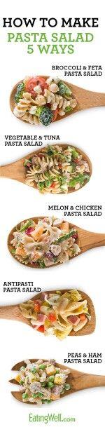 5 different pasta salads