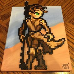 Rey - Star Wars:The Force Awakens perler beads by  sobbingminotaur