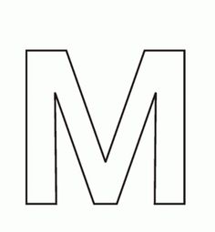 Letter M Coloring Pages For Kids