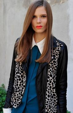 If you want to look polished and sophisticated, try a side part and smooth, straight, shiny locks