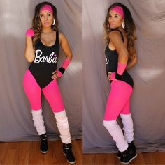 If you want to maintain your air of sporty-girl charm, glam yourself up as Workout Barbie! You can re-create the look with a leotard or one-piece bathing suit, leggings, and knee-high socks. Perfect the look with a pop of bright lipstick and big hair.