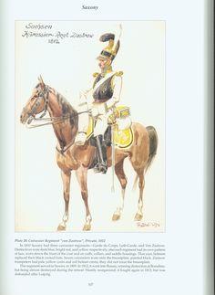 "The Confederation of the Rhine - Saxony: Plate 20. Cuirassier Regiment ""von Zastrow"", Private, 1812"