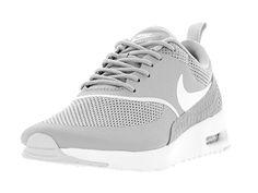 Nike Air Max Thea Women Schuhe matte silver-summit white - 42 - http://uhr.haus/nike/42-nike-air-max-thea-women-schuhe-white-black-40-5