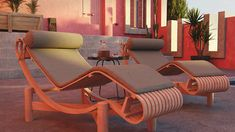 Red wall Tribute on Behance Color Schemes Design, Blender 3d, Red Walls, Outdoor Furniture Sets, Outdoor Decor, Sun Lounger, Behance, Architecture, Home Decor