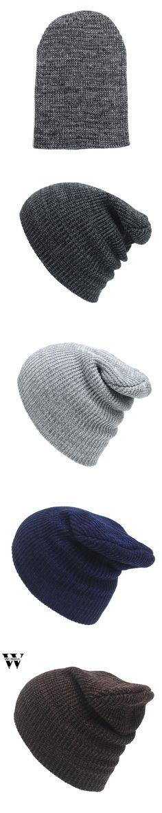 New Arrivals Men Women Warm Snow Winter Casual Beanies Solid 5 Colors Favourite Knit Hat Cap Hip Hop Casual Male Bonnet Oc19