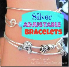 DIY Adjustable Silvertone Bracelets Anyone Can Make...@jmckellep, we will be trying this!