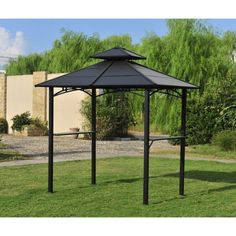 Sunjoy Brown Steel Rectangle Grill Gazebo (Exterior: 5 Ft X 8 Ft;  Foundation: 5 Ft X 8 Ft) | Outside | Pinterest | Steel, Backyard And Patios