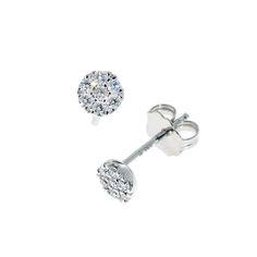 Elegante rosettøredobber med diamanter - en klassisk og tidløs modell.