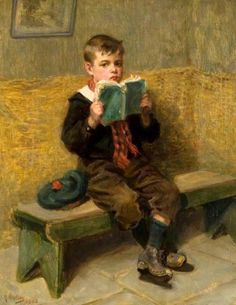 """Kept In"", 1902. Ralph Hedley (1848 – 1913, English)"