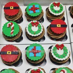 Christmas chocolate mocha cupcakes## #cyndisbakedgoods #holidaycupcakes #houstoncakes #homebaker #cakestagram #cakeporn #coolcakes #cupcakes #fondnattoppers #fondant #santa #placeyourcakeorder...