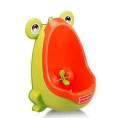 Foryee Cute Frog Potty Training Urinal for Boys with Funny Aiming Target - Yellow - 100% Brand new and high quality. The Foryee baby allows boys to train standing up from the start,and designed for the little man who aspires to be be like Daddy. The water wheel can keep your child funning and focus throughout the toilet training process. The super suction cups allow the urinal t...