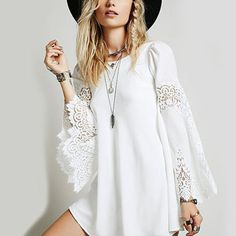 Best White Bell Sleeve Dress Products on Wanelo