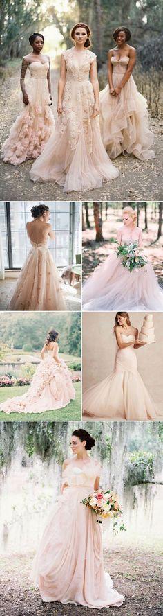 20 Utterly Romantic Blush Wedding Dresses - Whimsical