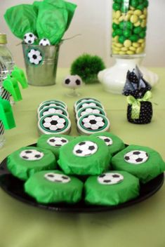 Soccer Themed Birthday Celebration - Birthday Party Ideas for Kids and Adults Soccer Birthday Parties, Sports Theme Birthday, Soccer Party, Soccer Snacks, Birthday Party Decorations, Birthday Celebration, Bridal Shower Cakes, Baby Party, Party Time
