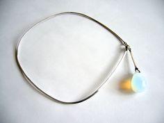 VIVIANNA TORUN GEORG JENSEN Opalescent Drop Necklace  #viviannatorun #georgjensen #necklace #jewelry #fashion #modernism #denmark #danish