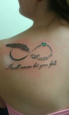 My shoulder tattoo (: i will never let you fall.