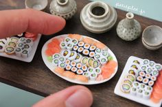 PetitPlat Miniatures by Stephanie Kilgast: Miniature Sushi Madness