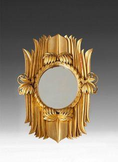 Dagobert Peche 'A Mirror' 1922 Izard Izard potter Unique Mirrors, Ornate Mirror, Old Mirrors, Vintage Mirrors, Vintage Wood, Mirror Mirror, Decorative Mirrors, Art Nouveau, Art Deco Furniture