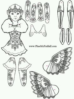 Phee McFaddell Artist just one of her free puppet coloring pages