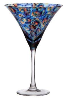 Peacock Martini Glass - I don't drink alcohol but sparkling cider would taste beautiful in this glass :)