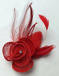 Acosta - Giant Iced Grey Toned Feather & Fabric Corsage Flower - Hair Accessory / Fascinator / Brooch V0h7oQMYN