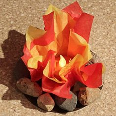 Glowing Campfire Craft | AllFreeKidsCrafts.com