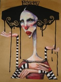 Creepy Art, Weird Art, Art Sketches, Art Drawings, Elfa, Psy Art, Grunge Art, Illustration Art, Illustrations