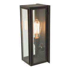 Narrow Box Wall Light Weathered Brass by Original BTC / Davey Lighting from Vertigo Home