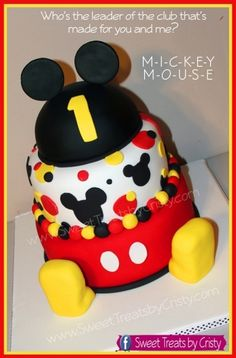mickey cake By CristyInMiami on CakeCentral.com