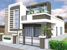 Modern Exterior House Designs, Modern Small House Design, Latest House Designs, House Design Photos, Cool House Designs, Single Floor House Design, Bungalow House Design, Model House Plan, House Plans
