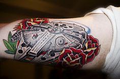 #millenium #falcon #Star #wars # tattoos