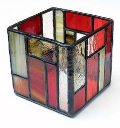 Portavelas de vidrio Tiffany de LTartesanos en Etsy