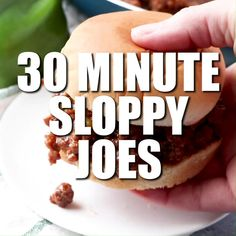 Saucy, flavorful and oh so easy, this Easy Sloppy Joe Recipe, is a must have weeknight meal!  If you've got a pack of ground beef and 30 minutes, you've got enough time to put a homemade dinner on your table that your kids will gobble up! #sloppyjoes #sloppyjoe #maindish #dinner #30minutemeal #groundbeef #sandwich #recipe #numstheword #quickdinner #dinnerideas #burger #kidfriendly Homemade Sloppy Joe Recipe, Homemade Sloppy Joes, Sloppy Joes Recipe, Easy Dinners, Quick Easy Meals, Beef Dishes, Food Dishes, Beef Recipes, Cooking Recipes