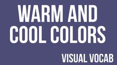 Warm and Cool Colors defined - From Goodbye-Art Academy Classroom Art Projects, Art Classroom, Elements Of Art Color, Art Videos For Kids, Art Terms, 2nd Grade Art, Warm And Cool Colors, Jr Art, Popular Art