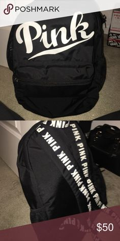 PINK Campus back pack Hardly used three compartments and lap top pouch very spacious no flaws PINK Victoria's Secret Bags Backpacks