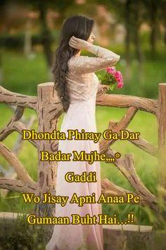 Dhondta Phiray Ga Dar Badar Mujhe,,,,* Gaddi Wo Jisay Apni Anaa Pe Gumaan Buht Hai...!!  #UrduPoetry #UrduShairi