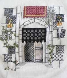 Castle Entrance + Hardanger Embroidery