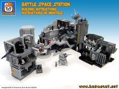 Lego building instructions Death Star modules custom MOC Lego Minifigure Display, Lego Display, Star Wars Toys, Lego Star Wars, Star Trek, Modele Lego, Lego Universe, Lego Army, Lego Spaceship