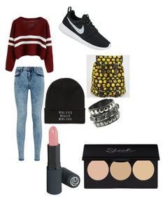 """""""School"""" by margot-52 ❤ liked on Polyvore featuring NIKE and Absolutely"""