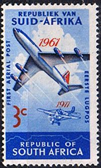 South Africa 1961 SG 220 Aerial Post Plane Fine Mint SG 220 Scott 280 Condition Fine MNH Only one post charge applied