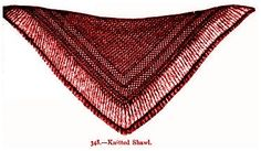 Free vintage Victorian shawl knitting pattern from Beeton's Book of Needlework is ideal for costume dramas, plays and to warm your shoulders on cool nights.