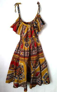 African Wax Print Dress, African Dress, African clothing